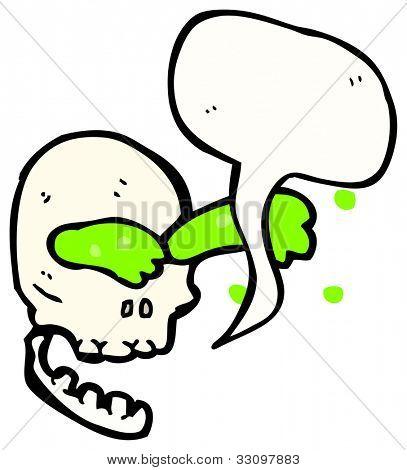 gross talking skull cartoon