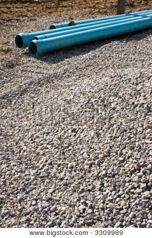 Gravel And Pipe Background