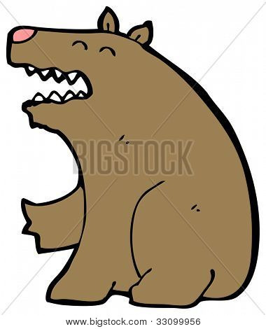 cartoon fearsome bear
