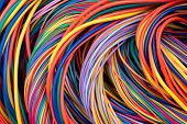 Electrical Cable Wiring Solutions Multicolored Cable Close-up poster