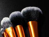 Make-up Concept. Make-up Brushes.  Concelear Brush, Foundation Brush, Blush Brush And Powder Brush. poster
