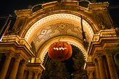 Denmark, Copenhagen: Entrance To The Tivoli Park With Decorations For The Holiday - Halloween poster