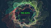 Vector Abstract Colorful Big Data Information Sorting Visualization. Social Network, Financial Analy poster