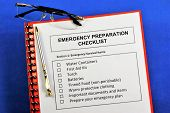 Emergency Preparedness Checklist.emergency Survival Items.water Containers, First Aid Kit, Torch, Ba poster
