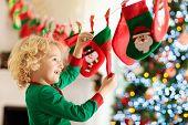 Christmas Presents For Kids. Advent Calendar. poster