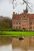 Egeskov, Denmark: The Skeleton In The Boat. Egeskov Castle Located In The South Of The Island Of Fun poster