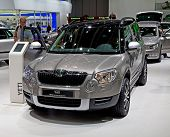 GENEVA - MARCH 8: The Skoda Yeti on display at the 81st International Motor Show Palexpo-Geneva on M