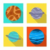 Isolated Object Of Galaxy And Orbit Icon. Collection Of Galaxy And Cosmos Stock Symbol For Web. poster