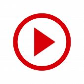 Play Video Button Icon In Two Color Design Style. Play Video Button Vector Icon Modern And Trendy Fl poster