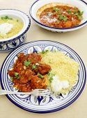 picture of tagine  - A meal of chicken tagine stew in a spicy - JPG