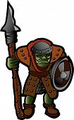 foto of loin cloth  - Troll or orc fantasy character with clubs - JPG