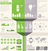 image of sustainable development  - Ecology info graphics collection charts symbols graphic vector elements - JPG
