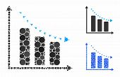 Dotted Negative Trend Composition Of Small Circles In Variable Sizes And Shades, Based On Dotted Neg poster