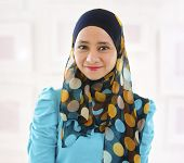 foto of malay  - Beautiful Young Muslim girl smiling - JPG