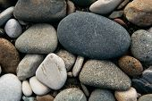 Gravel Pattern Of Colored Stones. Abstract Nature Pebbles Background. Stone Background. Sea Peblles  poster