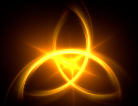 stock photo of triquetra  - one magical abstract symbol - JPG