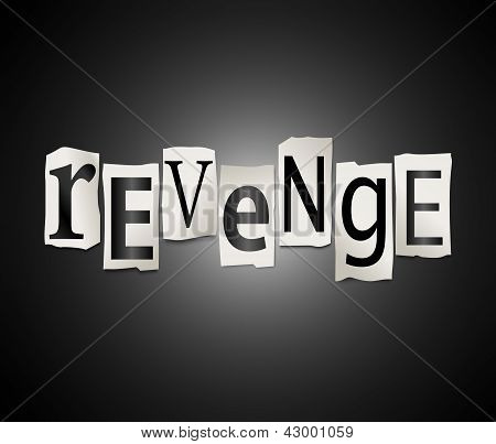 Concepto de venganza.