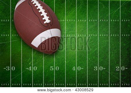 College Football On Grunge Field Background