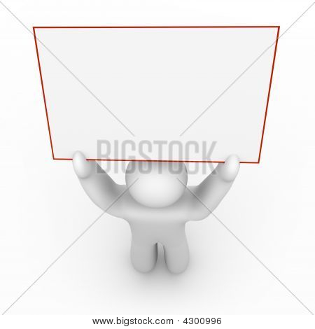 Person Holding A Blank Sign