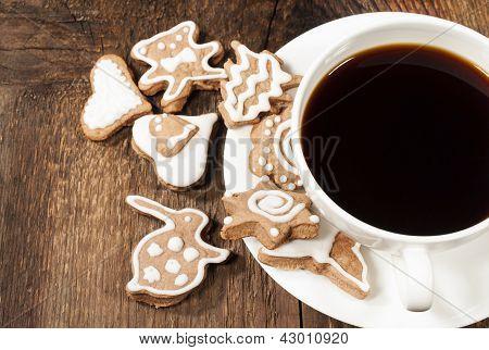 Homemade Sugar Cookies With Coffee