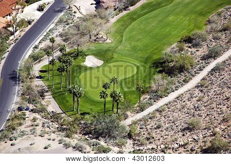 Desert Golf Course Hole