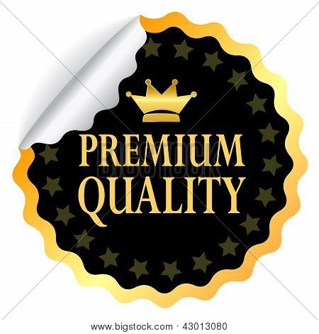 Vector premium quality sticker