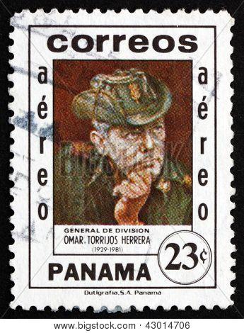 Postage Stamp Panama 1982 General Omar Torrijos Herrera