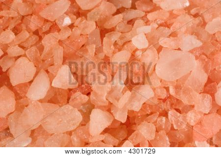 Closeup Of Pink Bath Salt