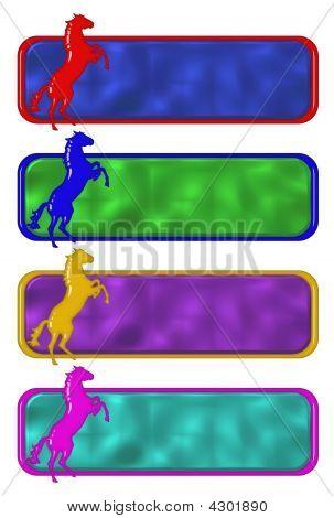 Rampant Horse Plates