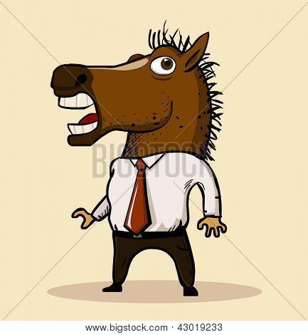 Horse mask 2013 trend. Vector illustration