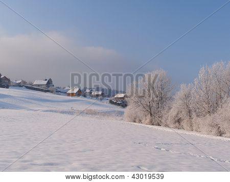 Malbuisson At Dawn In Winter, Jura, France