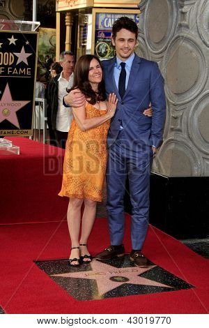 LOS ANGELES - MAR 7: James Franco, Betsy Franco at a ceremony as James Franco is honored with a star on the Hollywood Walk of Fame on March 7, 2013 in Los Angeles, California