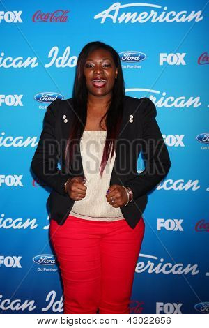 LOS ANGELES - MAR 7:  Candice Glover arrives at the 2013