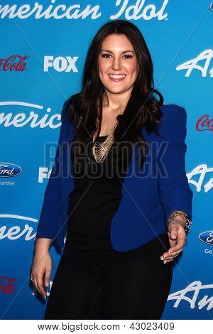 LOS ANGELES - MAR 7:  Kree Harrison arrives at the 2013