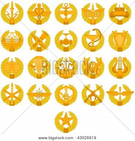 Badges of arms of the Russian Army