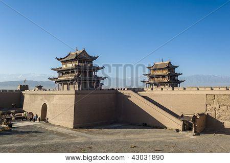 Jiayuguan, West End Of Great Wall, Gansu Of China