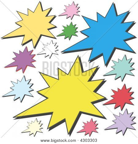 Colored Advertising Stars