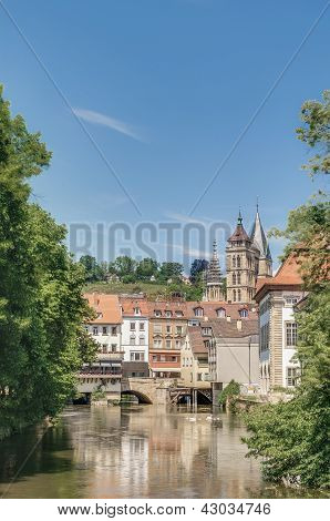 Ross Neckar Canal In Esslingen Am Neckar, Germany
