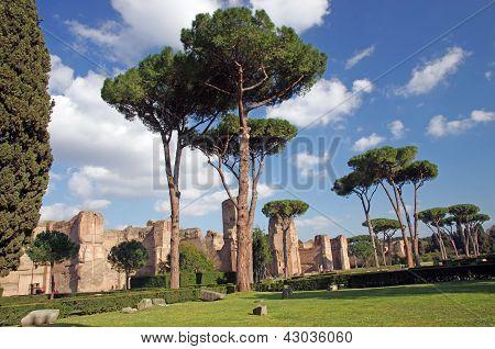 Romeinse openbare baden