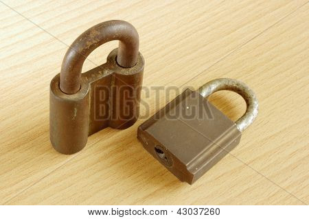 Rusty Old Metal Padlock