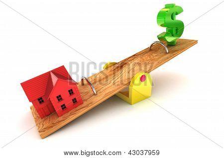 Housing Debt Dollar Illustration