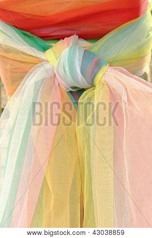 Colorful Cloth On Shrine Of The Household God