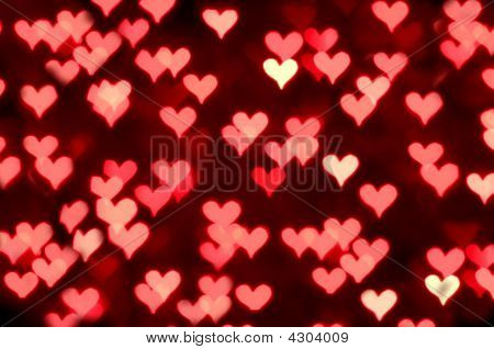 Big Red Hearts Bokeh