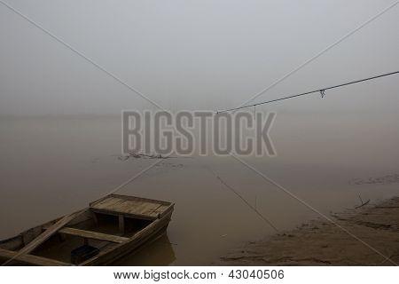 Misty Punjabi River