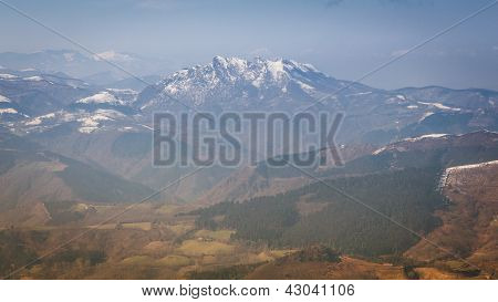 Pyrenees Mountain Landscape in France.