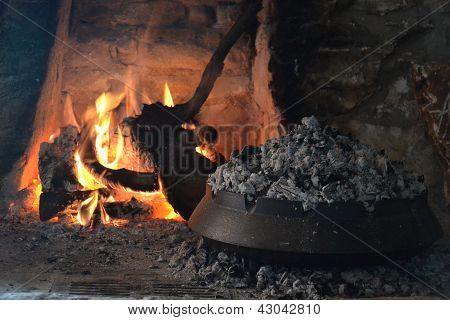 Fireplace and food preparation