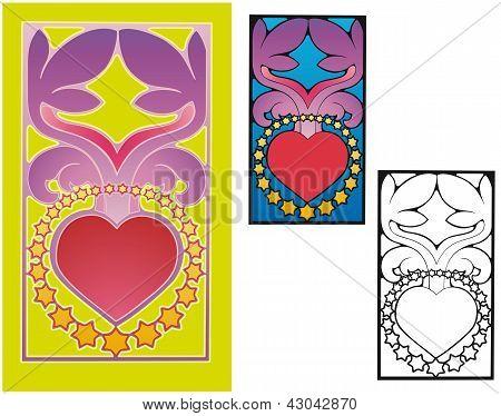 Retro peace and love