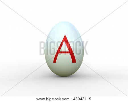 Egg Letter A