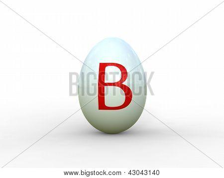 Egg Letter B