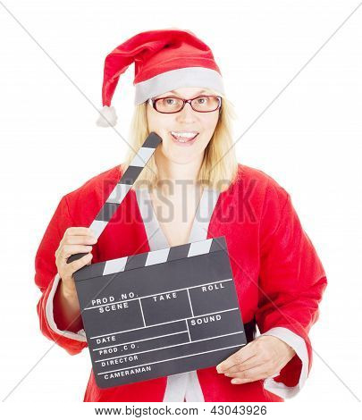 Santa Claus With Clapperboard